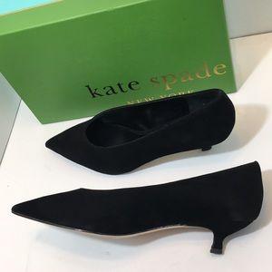 Kate Spade Black Kid Suede Women's Pumps Size 8 M